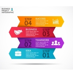 arrows infographic diagram graph vector image vector image