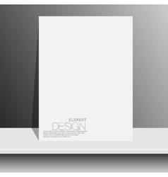 blank white magazines on white shelf with soft vector image