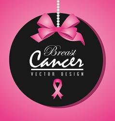 Cancer design over pink background vector image