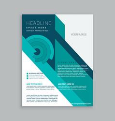 Company business brochure flyer template design vector