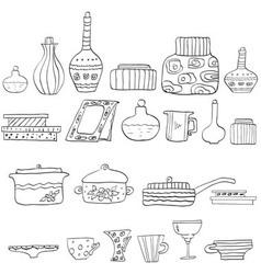 Drawing utensils vector