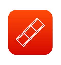 film strip icon digital red vector image vector image