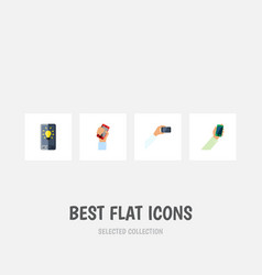Flat icon phone set of cellphone screen vector