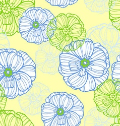 Floral pattern with poppies flowers vector image vector image