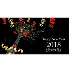 Happy New Year 2013 banner vector image