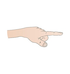 human hand with pointing finger vector image vector image