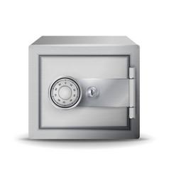 Metal safe realistic safe deposit 3d vector