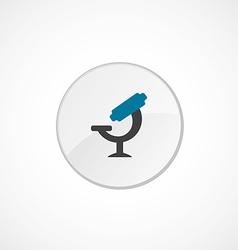 microscope icon 2 colored vector image