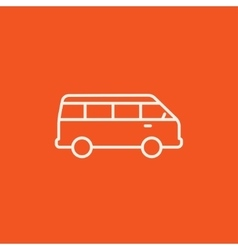 Minibus line icon vector