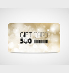 Modern gift card template vector