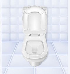 realistic toilet mockup closeup white toilet in vector image vector image