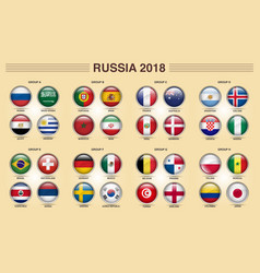 russia 2018 fifa world cup group competitions vector image vector image