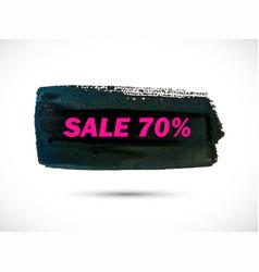 Sale-brush-pink vector
