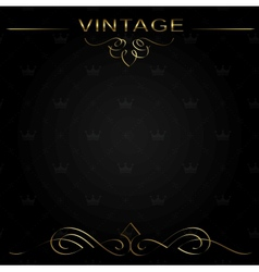 Seamless vintage background or frame vector image vector image
