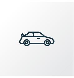 Sports auto outline symbol premium quality vector