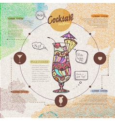 Web site design Decorative cocktail Menu design vector image
