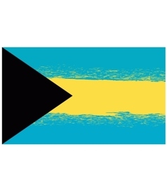 Grunge flag of bahamas isolated vector