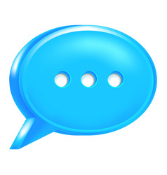 blue speech bubble icon chat room sign vector image