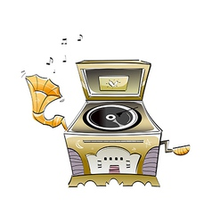 A gramophone vector image