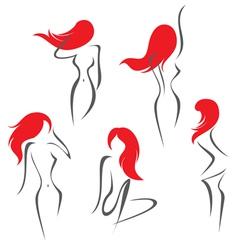 women set vector image