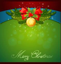 Christmas celebration sparkling postcard vector image