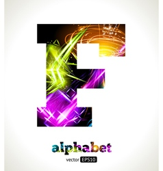 Design abstract letter f vector