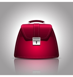 A burgundy women female handbag vector