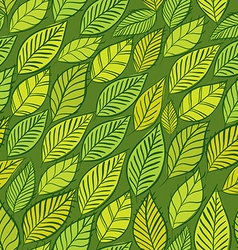 Seamless floral background green leaves seamless vector