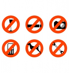 Forbidden icons vector