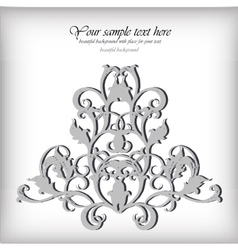 Ornate element for design ornamental vintage for vector