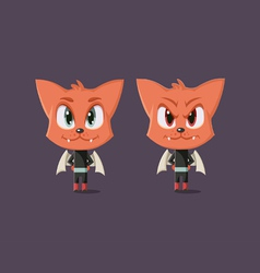 Good and evil cat vector