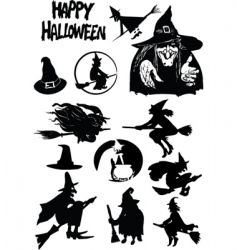 Halloween figures vector