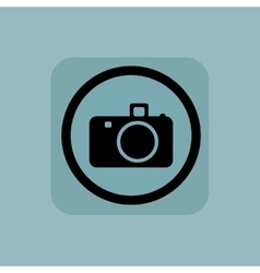 Pale blue camera sign vector