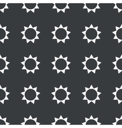 Straight black sun pattern vector