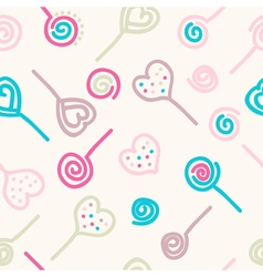 Colorful lollipops and candies vector