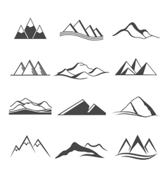Mountains logo travel vector
