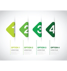 Green option background square vector