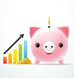 Bank pig graph vector