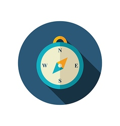 Compass flat icon summer marine vector