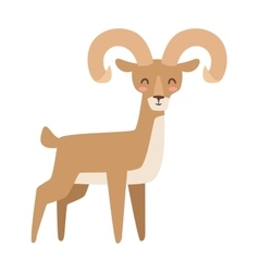 Mountain deer vector image