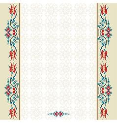 Antique ottoman turkish pattern design ninety vector