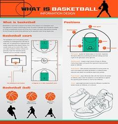 Basketball infographics set vector