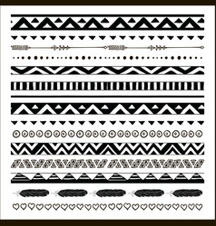 black abstract tribal seamless pattern vector image vector image