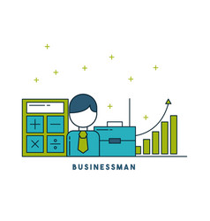 businessman digital marketing vector image