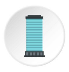 Column icon circle vector