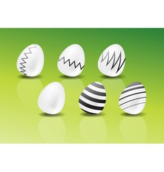 decorated easter eggs vector image vector image