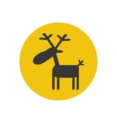 Deer moose silhouette vector