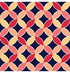 Diamonds and circles pattern vector