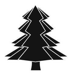 Fir tree icon simple style vector