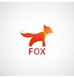 Fox Logo abstract icon vector image vector image